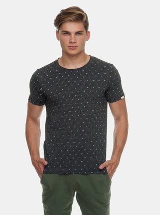Tricou barbatesc gri inchis cu model Ragwear Romare Organic