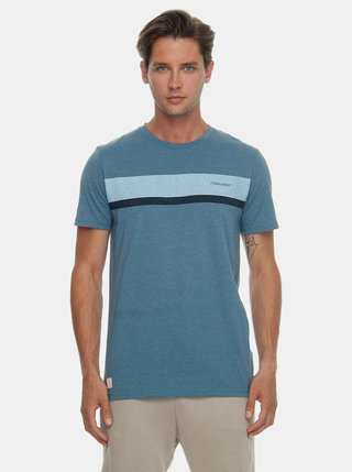 Tricou barbatesc albastru cu imprimeu Ragwear Hake Organic