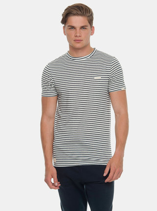 Tricou barbatesc negru-alb in dungi Ragwear Paul Stripe Organic