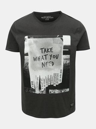 Tmavosivé tričko Shine Original