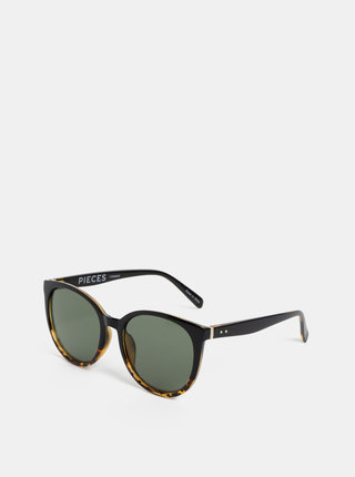 Černé vzorované sluneční brýle Pieces Betty