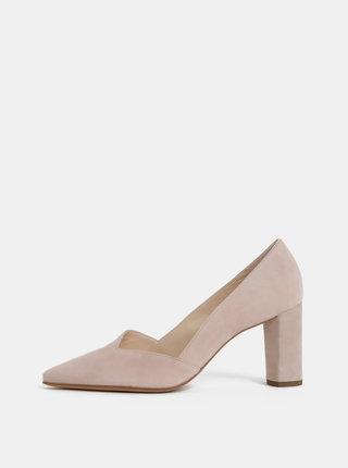 Pantofi roz deschis din piele intoarsa Högl