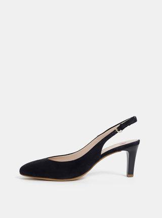 Pantofi albastru inchis din piele intoarsa Högl