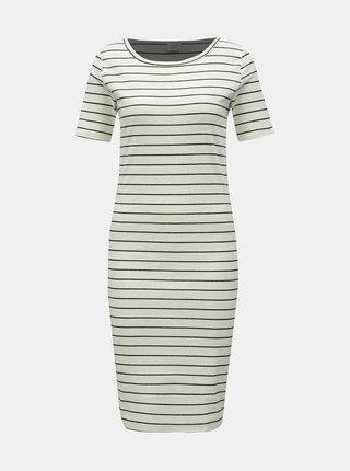 Biele pruhované basic šaty Jacqueline de Yong Nevada