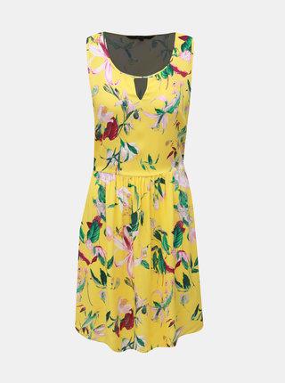 Žlté kvetované šaty VERO MODA Simply Easy