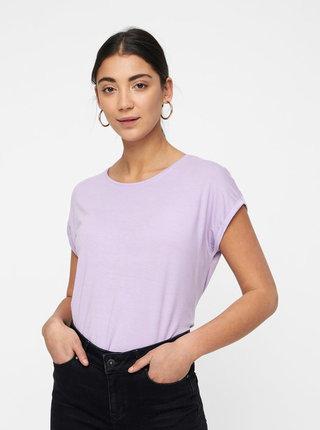Svetlofialové voľné basic tričko VERO MODA Mava