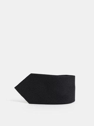Černá kravata Selected Homme New Texture