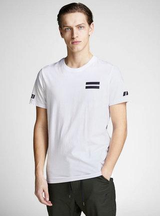 Tricou alb slim cu imprimeu la spate Jack & Jones Jeppes