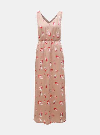 Rochie maxi roz prafuit florala ONLY Giza