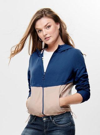 Růžovo-modrá oboustranná lehká bunda ONLY New Jazz