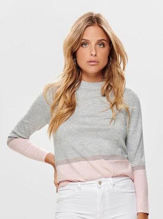 Sivý sveter ONLY Camellia