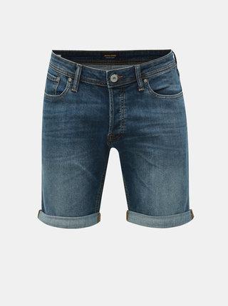 Pantaloni scurti albastri regular fit din denim Jack & Jones Rick