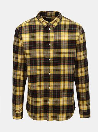 Černo-žlutá kostkovaná slim fit košile Selected Homme Hansi