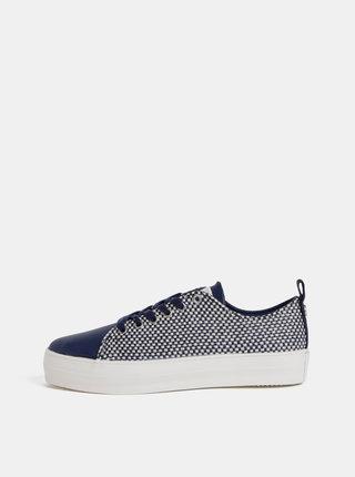 Pantofi sport albastru inchis in carouri de dama U.S. Polo Assn. Trixy