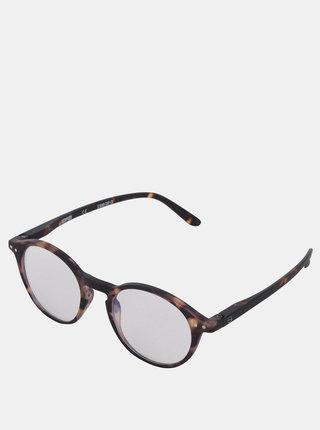 Čierno-hnedé vzorované ochranné okuliare k PC IZIPIZI #D