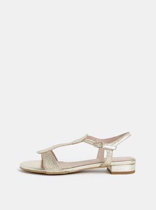 Sandále v zlatej farbe s hadím vzorom OJJU Marsella
