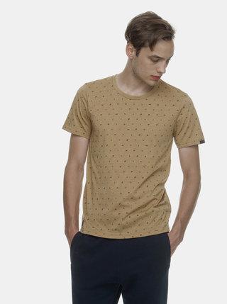 Tricou barbatesc maro deschis cu model Ragwear Romare Organic
