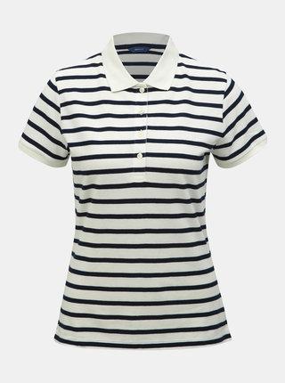 Modro-bílé dámské pruhované basic polo tričko GANT