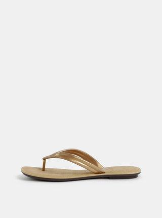 Papuci flip-flop aurii Grendha