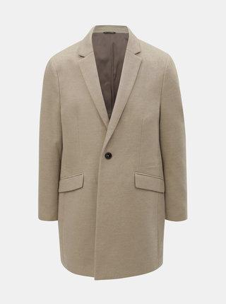 Béžový kabát Burton Menswear London