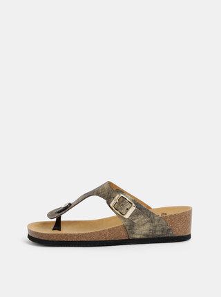 Papuci flip-flop aurii de dama Scholl Gandia