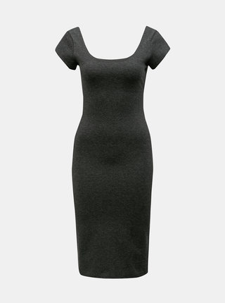 Tmavosivé melírované puzdrové basic šaty ZOOT