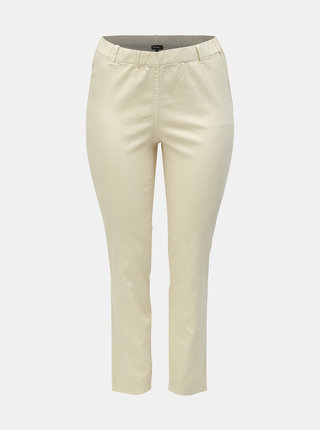 Jeggings crem slim fit Ulla Popken