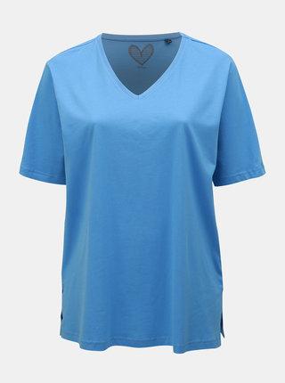 Světle modré basic tričko Ulla Popken