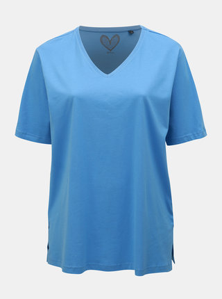 Tricou basic albastru deschis Ulla Popken