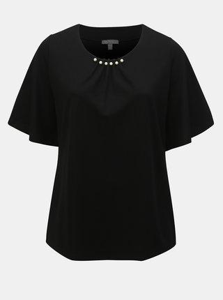 Bluza neagra cu margele Ulla Popken