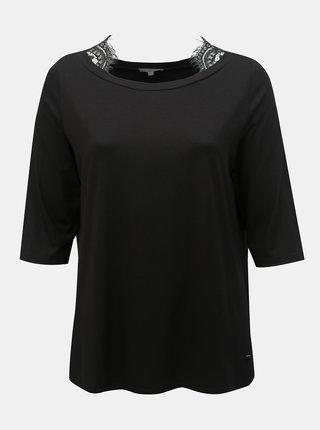 Tricou negru cu dantela Ulla Popken