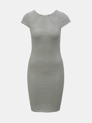 Černo-bílé pruhované pouzdrové basic šaty ONLY Pablo