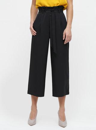 Pantaloni culottes negri cu talie inalta VERO MODA Coco