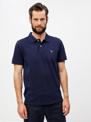 Tmavě modré pánské basic polo tričko GANT