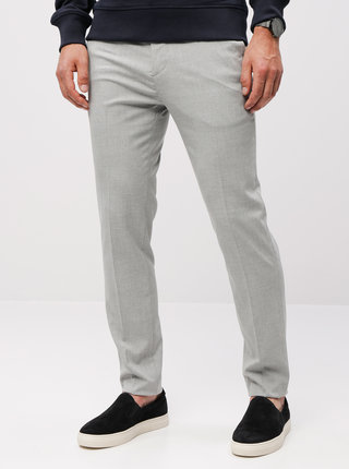 Pantaloni gri in dungi super skinny Burton Menswear London