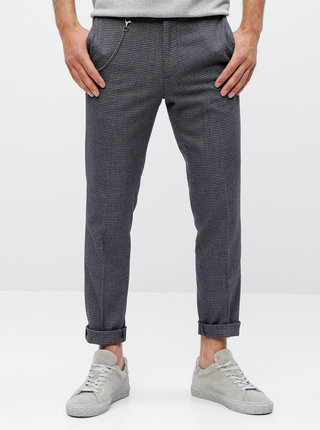 Pantaloni gri in carouri skinny fit Burton Menswear London