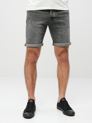 Pantaloni scurti gri din denim Selected Homme Halex