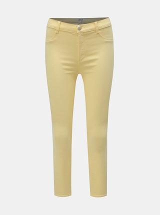 Žluté skinny fit džíny s vysokým pasem Dorothy Perkins Petite Frankie