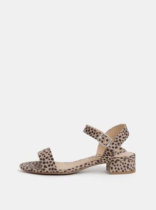 Béžové sandále s gepardím vzorom Dorothy Perkins