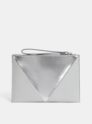Strieborno–sivá listová kabelka Dorothy Perkins