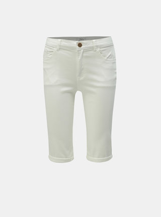 Pantaloni scurti albi din denim Dorothy Perkins Tall