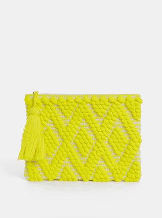Žltá listová kabelka so strapcom Dorothy Perkins