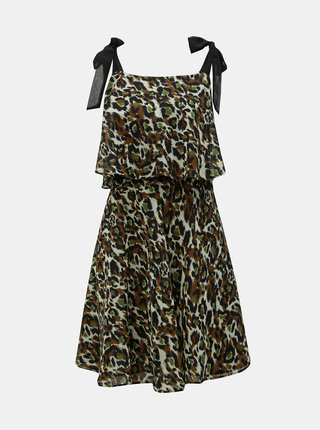 Khaki šaty s leopardím vzorem Dorothy Perkins