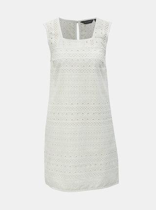 Biele šaty s madeirou Dorothy Perkins