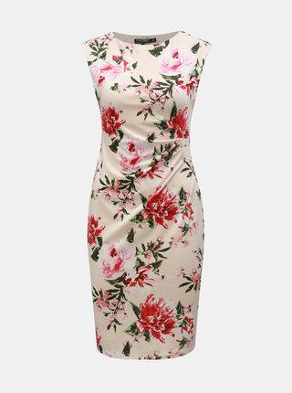 Světle růžové květované pouzdrové šaty Billie & Blossom