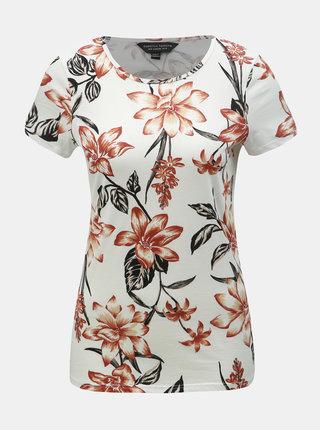 Bílé květované tričko Dorothy Perkins