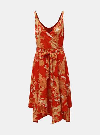 Červené květované šaty Dorothy Perkins
