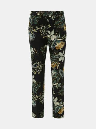 Čierne kvetované nohavice Dorothy Perkins Tall
