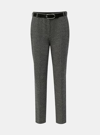 Sivé melírované nohavice s opaskom Dorothy Perkins Tall