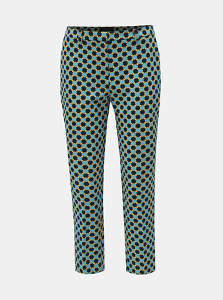 Modré vzorované zkrácené kalhoty Dorothy Perkins